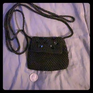 Little black cross body purse